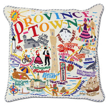 Load image into Gallery viewer, Provincetown Hand-Embroidered Pillow - catstudio
