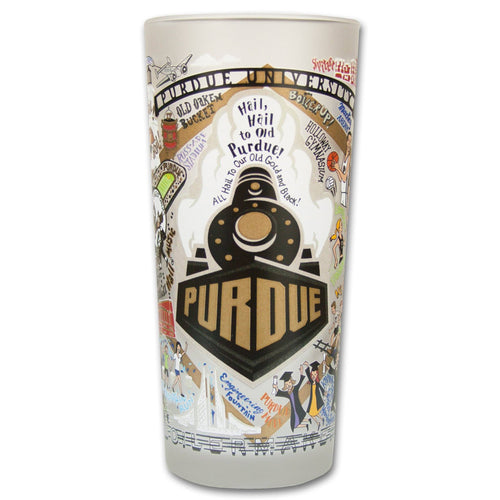 Purdue University Collegiate Drinking Glass - catstudio