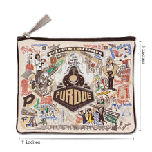 Load image into Gallery viewer, Purdue University Collegiate Zip Pouch - catstudio
