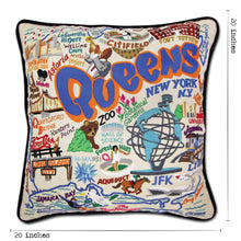 Load image into Gallery viewer, Queens Hand-Embroidered Pillow Pillow catstudio