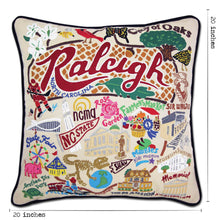Load image into Gallery viewer, Raleigh Hand-Embroidered Pillow - catstudio