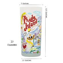 Load image into Gallery viewer, Rhode Island Drinking Glass - catstudio