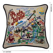 Load image into Gallery viewer, Rhode Island Hand-Embroidered Pillow Pillow catstudio
