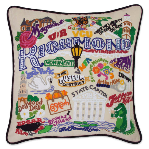 Richmond Hand-Embroidered Pillow Pillow catstudio