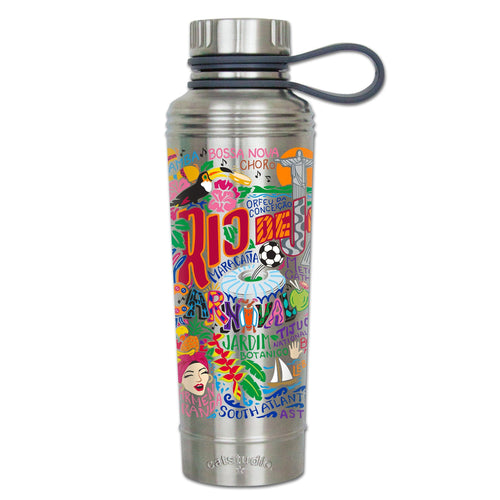Rio de Janiero Thermal Bottle Thermal Bottle catstudio