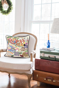 Roma Hand-Embroidered Pillow Pillow catstudio