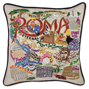 Roma XL Hand-Embroidered Pillow - catstudio