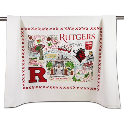 Rutgers University Collegiate Dish Towel - catstudio
