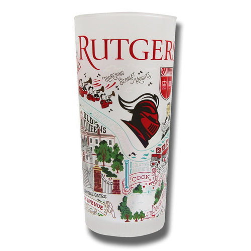 Rutgers University Collegiate Drinking Glass - catstudio