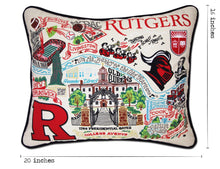 Load image into Gallery viewer, Rutgers University Collegiate Embroidered Pillow - catstudio