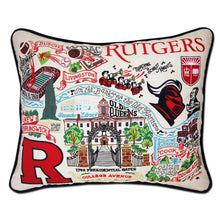 Load image into Gallery viewer, Rutgers University Collegiate Embroidered Pillow Pillow catstudio