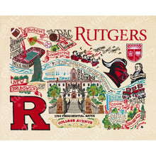 Load image into Gallery viewer, Rutgers University Collegiate Fine Art Print - catstudio