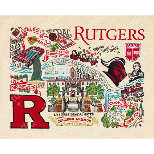 Rutgers University Collegiate Fine Art Print - catstudio