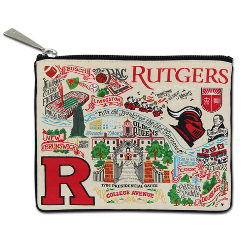Rutgers University Collegiate Zip Pouch - catstudio