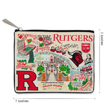 Load image into Gallery viewer, Rutgers University Collegiate Zip Pouch - catstudio