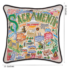 Load image into Gallery viewer, Sacramento Hand-Embroidered Pillow Pillow catstudio