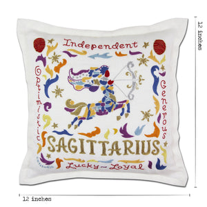 Sagittarius Astrology Hand-Embroidered Pillow Pillow catstudio