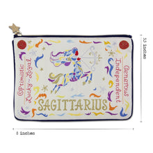 Load image into Gallery viewer, Sagittarius Astrology Zip Pouch Pouch catstudio