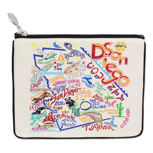 San Diego Zip Pouch - Natural - catstudio