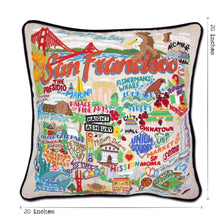 Load image into Gallery viewer, San Francisco City Hand-Embroidered Pillow - catstudio