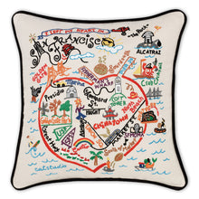 Load image into Gallery viewer, San Francisco Hand-Embroidered Pillow - catstudio