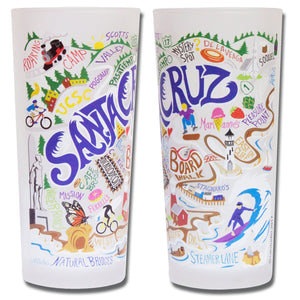 Santa Cruz Drinking Glass - catstudio