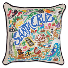 Load image into Gallery viewer, Santa Cruz Hand-Embroidered Pillow Pillow catstudio