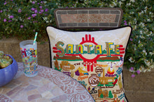 Load image into Gallery viewer, Santa Fe Hand-Embroidered Pillow - catstudio