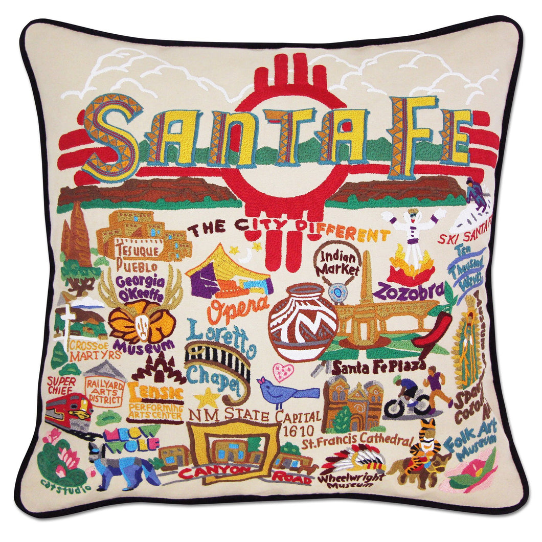 Santa Fe Hand-Embroidered Pillow Pillow catstudio