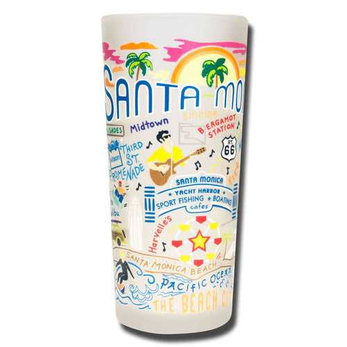 Santa Monica Drinking Glass - catstudio