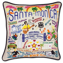 Load image into Gallery viewer, Santa Monica Hand-Embroidered Pillow - catstudio