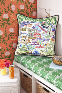 Savannah Hand-Embroidered Pillow - catstudio