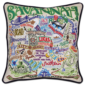 Savannah Hand-Embroidered Pillow Pillow catstudio