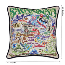 Load image into Gallery viewer, Savannah Hand-Embroidered Pillow - catstudio