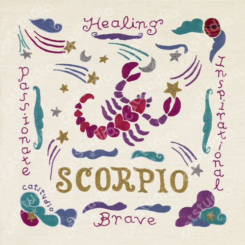 Scorpio Astrology Fine Art Print - catstudio