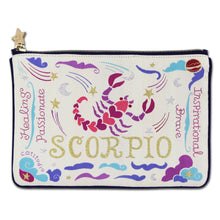 Load image into Gallery viewer, Scorpio Astrology Zip Pouch - catstudio