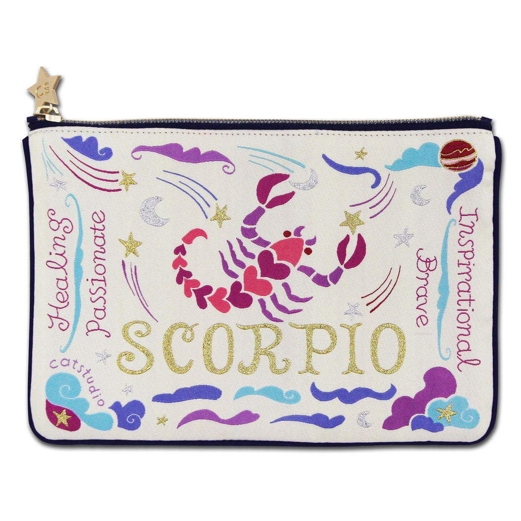 Scorpio Astrology Zip Pouch - catstudio
