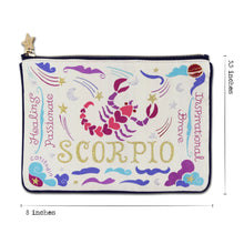 Load image into Gallery viewer, Scorpio Astrology Zip Pouch Pouch catstudio