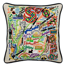 Load image into Gallery viewer, Scotland Hand-Embroidered Pillow - catstudio