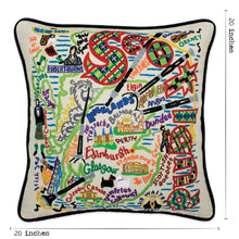 Load image into Gallery viewer, Scotland Hand-Embroidered Pillow Pillow catstudio
