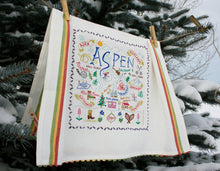 Load image into Gallery viewer, Ski Aspen Dish Towel - catstudio
