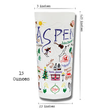 Load image into Gallery viewer, Ski Aspen Drinking Glass - catstudio