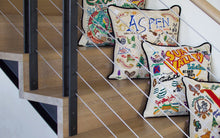 Load image into Gallery viewer, Ski Aspen Hand-Embroidered Pillow - catstudio