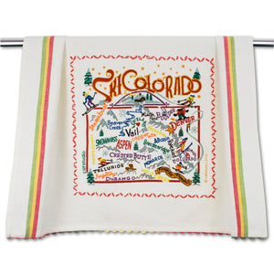 Ski Colorado Dish Towel Dish Towel catstudio