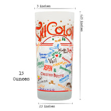 Load image into Gallery viewer, Ski Colorado Drinking Glass - catstudio
