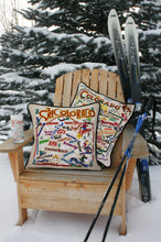 Load image into Gallery viewer, Ski Colorado Hand-Embroidered Pillow Pillow catstudio