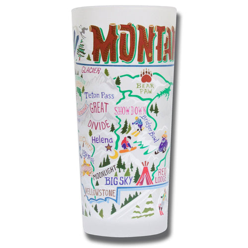 Ski Montana Drinking Glass - catstudio