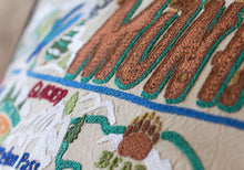 Load image into Gallery viewer, Ski Montana Hand-Embroidered Pillow - catstudio