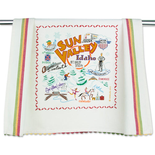 Ski Sun Valley Dish Towel Dish Towel catstudio