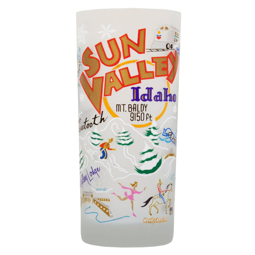 Ski Sun Valley Drinking Glass - catstudio